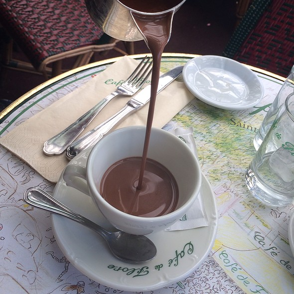 Hot Chocolate Cafe de Flore Paris BiniBlog