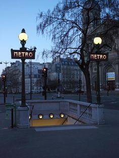 Paris Metro Dusk