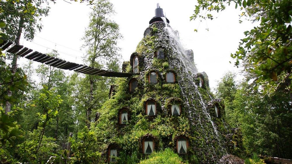 Unusual Weird Hotels BiniBlog Magic Mountain Hotel Huilo Huilo Reserve Chile