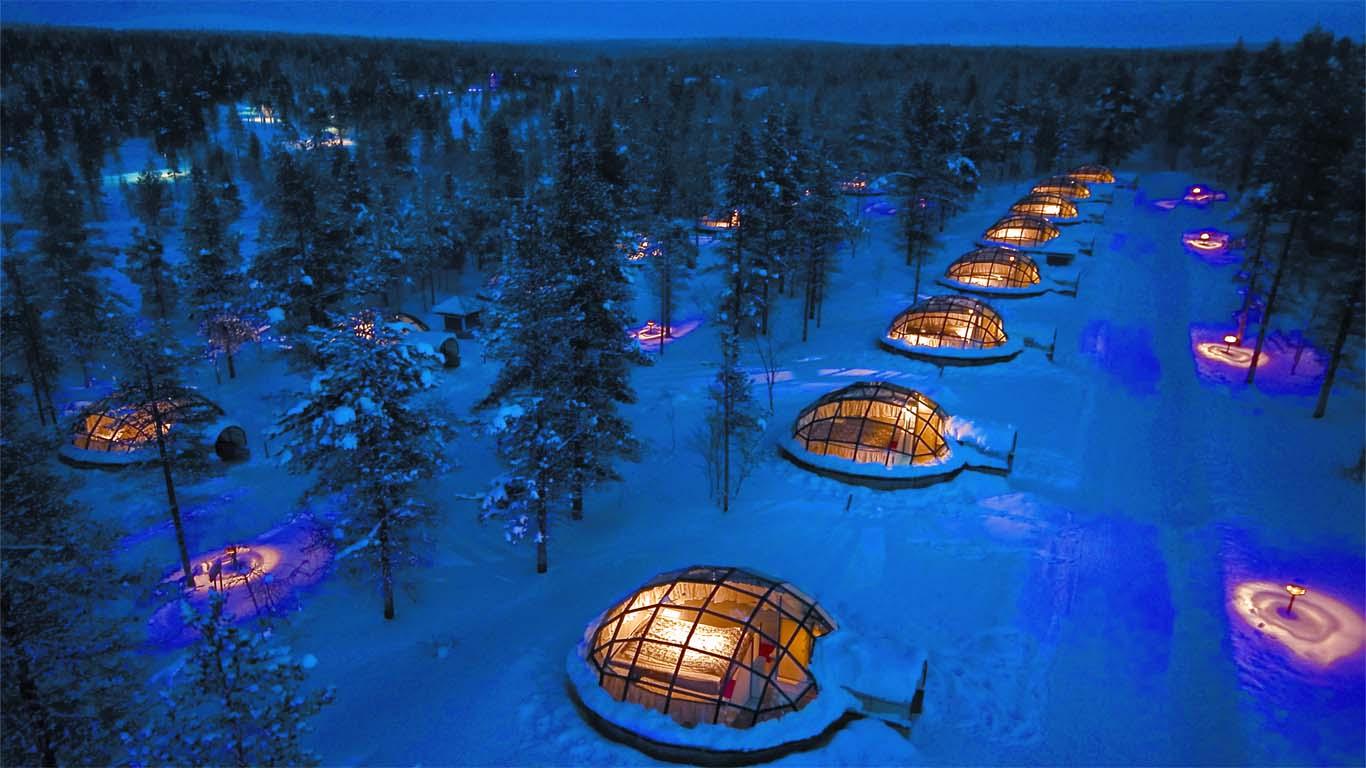 Unusual Weird Hotels BiniBlog Kakslauttanen Hotel, Saariselkä, Finland