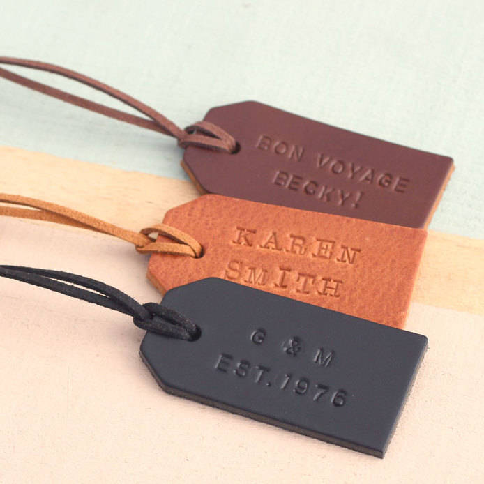 Original Personalised Leather Luggage Tags LocalBini BiniBlog Travel Gift Guide Ultimate