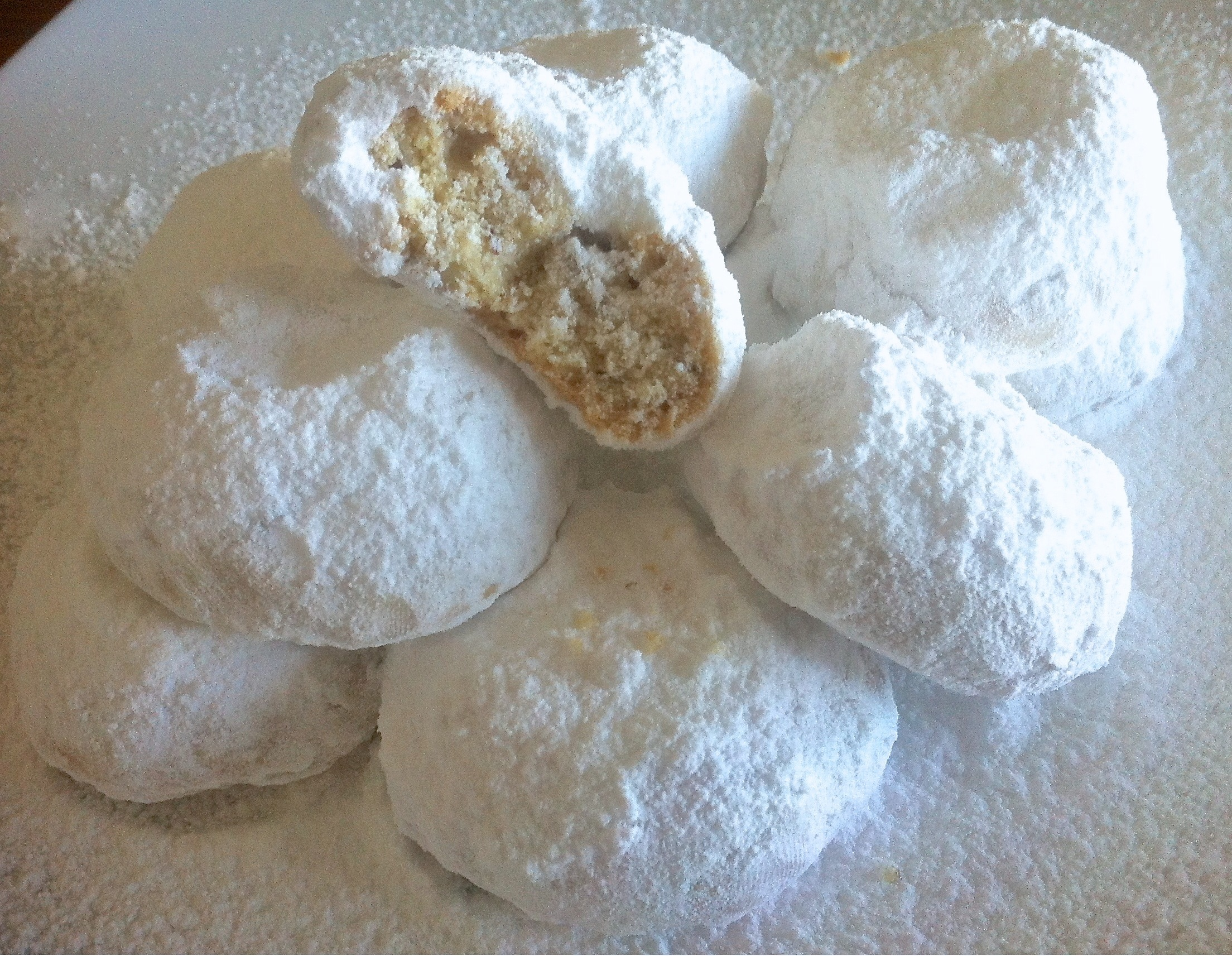 Tradition Butter Kourabiedes Greek Christmas Cookies Almond Greek Greece