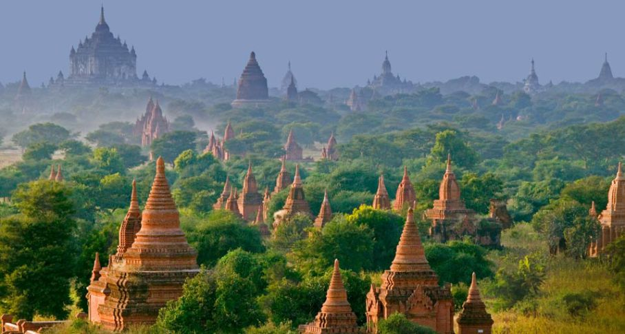 Bagan Pagan Myanmar Amazing Incredible Holland Keukenhof River of Flowers Romantic Waitomo Caves Magical Places to Visit around the world Glow Worm Cave New Zealand Panjin Red Beach China