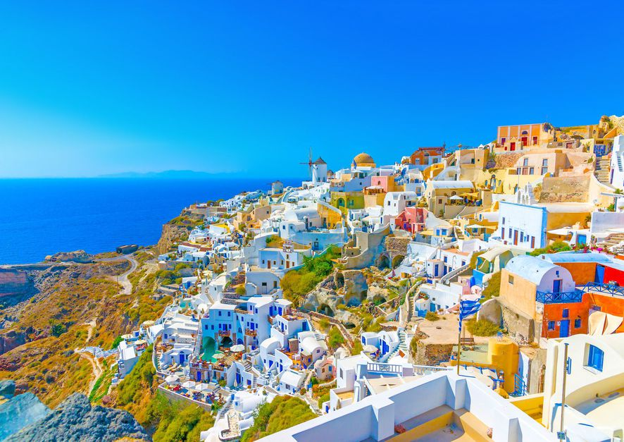 Oia Santorini Greece Moravian Fields Prague Amazing Incredible Holland Keukenhof River of Flowers Romantic Waitomo Caves Magical Places to Visit around the world Glow Worm Cave New Zealand Panjin Red Beach China Chittor Fort Chittorgarh India Western Australia Hiller Pink Lake