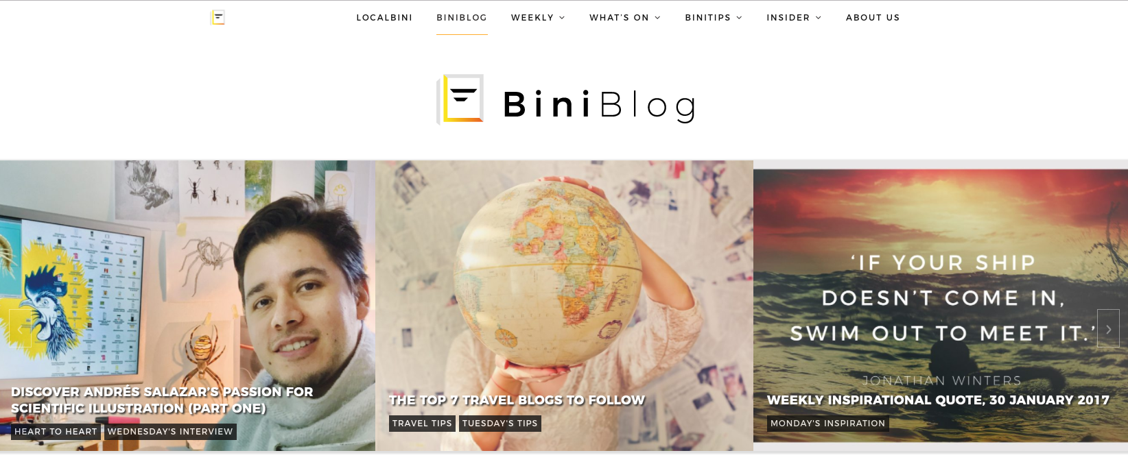 Best Travel Lifestyle Blog BiniBlog LocalBini Lifestyle Tips Inspiration Discovery Food Recipes