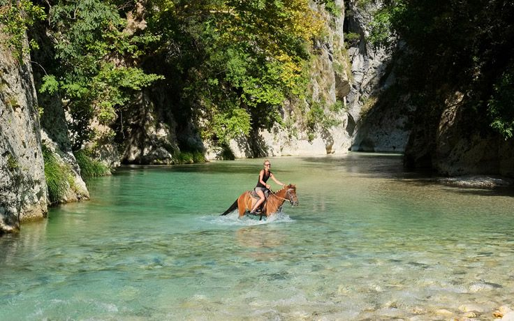 Adventure Holidays Alicante Local BiniBlog Travel Lifestyle Experience river walk Horse-riding in Acheron river Greece