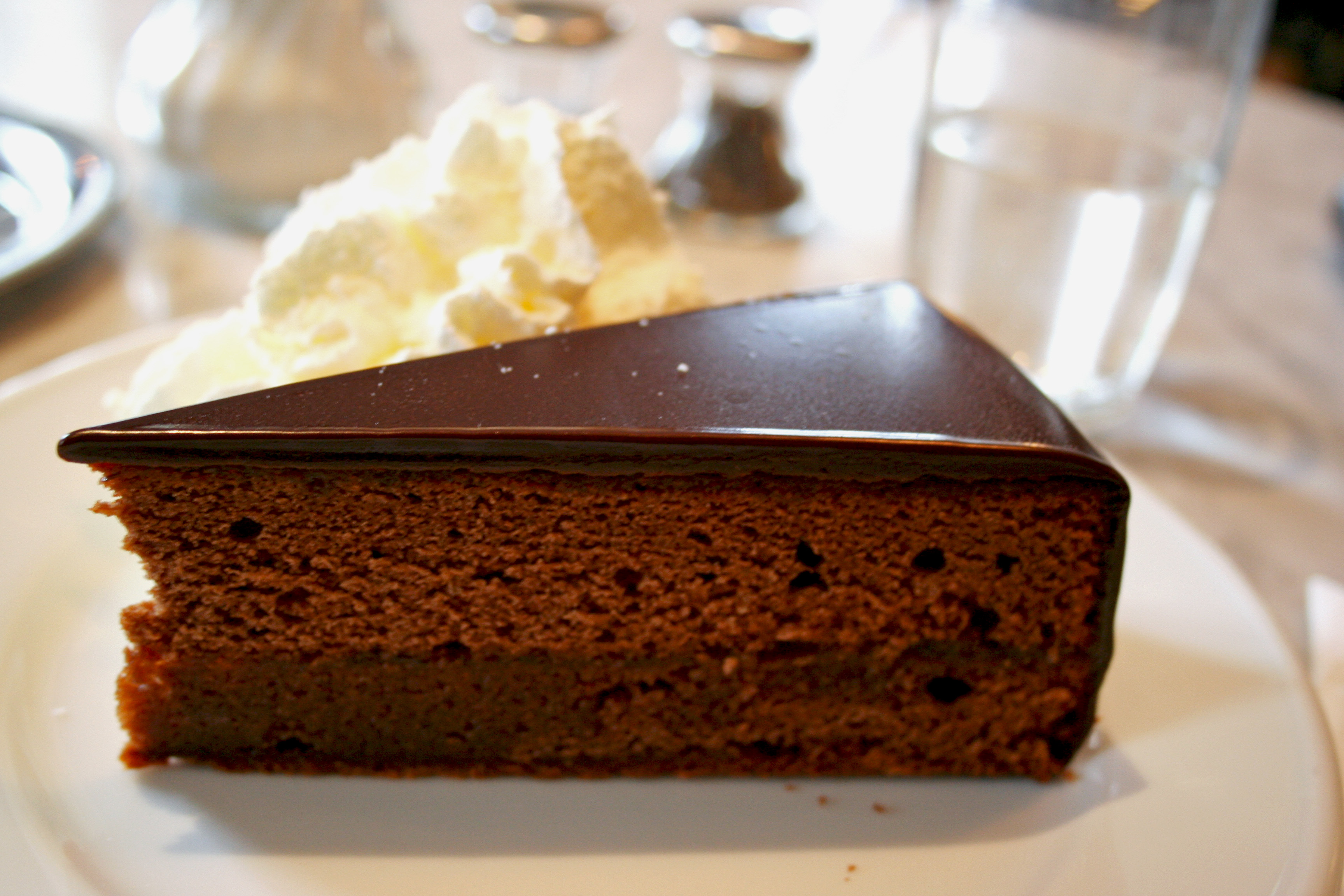 Franz Sacher Sachertorte Viennese Specialty Vienna Austria Chocolate Cake Cream Apricot Jam Recipe Secret Whipped Cream Dessert