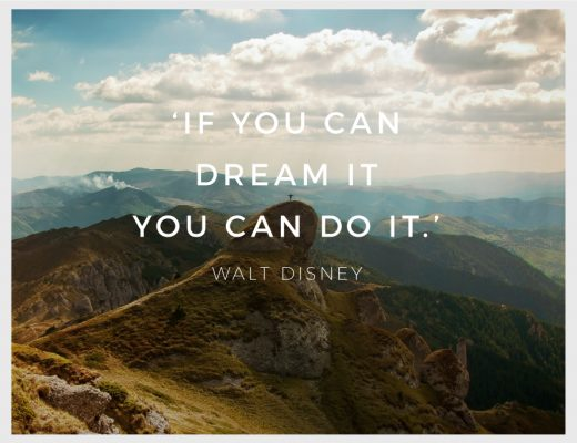 Mountain Sky Cloud Person Accomplishment Quote Walt Disney