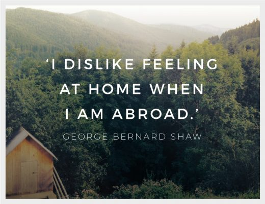 George Bernard Shaw I Dislike Feeling at Home When I Am Abroad