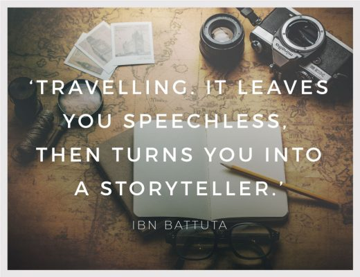 BiniBlog Travel Inspiration Quote Travelling it Leaves you Speechless then turns you into a Storyteller Ibn Battuta