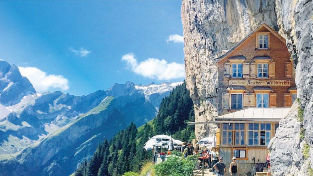 BiniBlog Weird Hotels Ascher Cliff Hotel Switzerland Appenzel