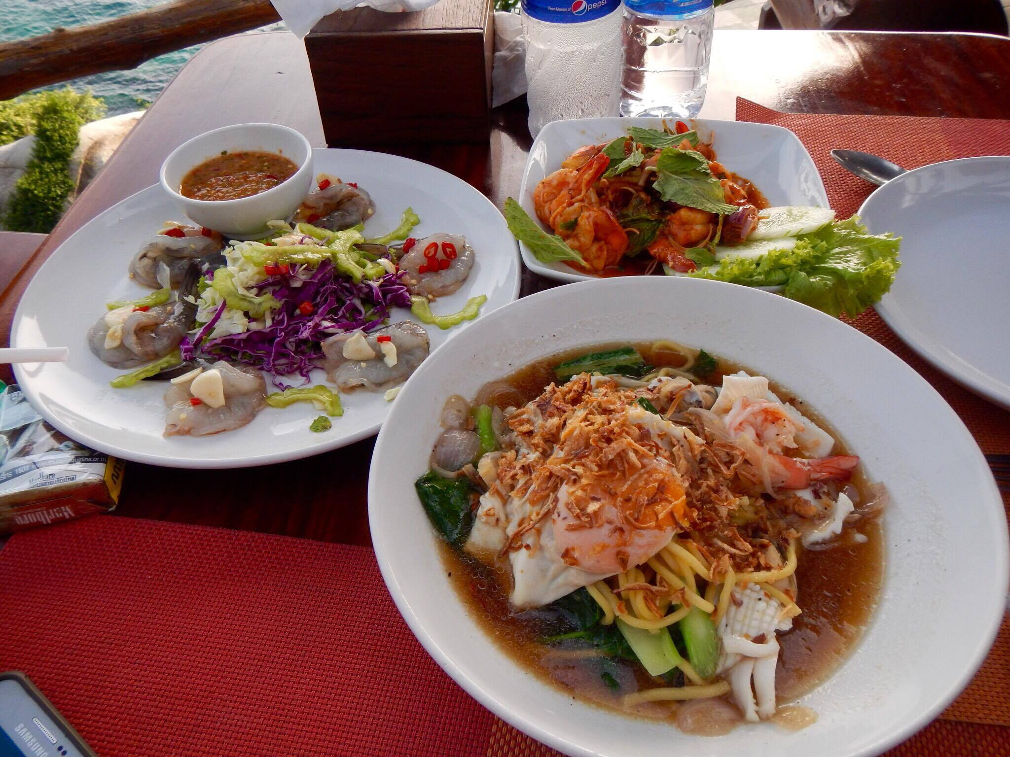 Seafood Phuket Prawns Thai Food Spicy Broth Soup Vegetables