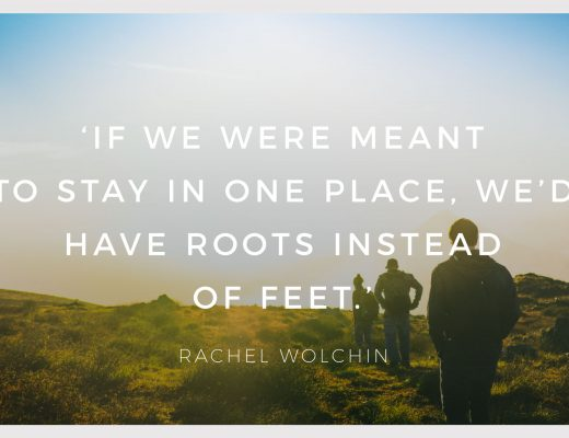 BiniBlog LocalBini Inspiration Inspirational Quote Weekly Travel Lifestyle Monday Roots Feet Place Rachel Wolchin