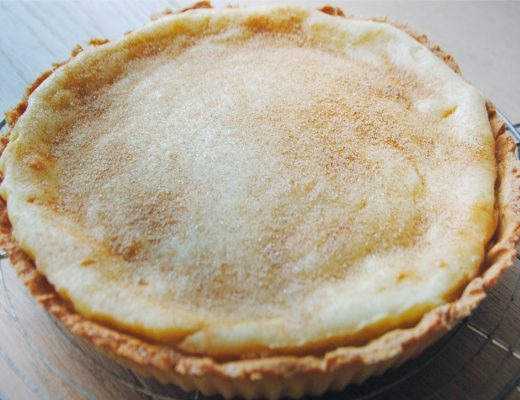 South African Milk Tart Melktart Creamy Rich Pie Traditional Local Milky Travel Food Recipe Dessert Crust Filling