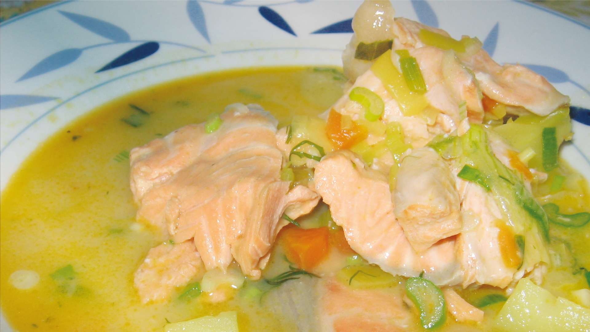 Travel to indonesia with this creamy salmon stew biniblog for Creamy fish stew