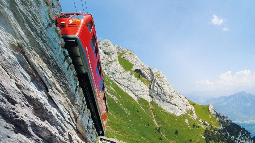 Cogwheel Train Tracks Steepest Railway Mount Pilatus Switzerland Bucket List Unique Experiences Things To Do Discover Alternative LocalBini BiniBlog Travel Lifestyle Food Mountains