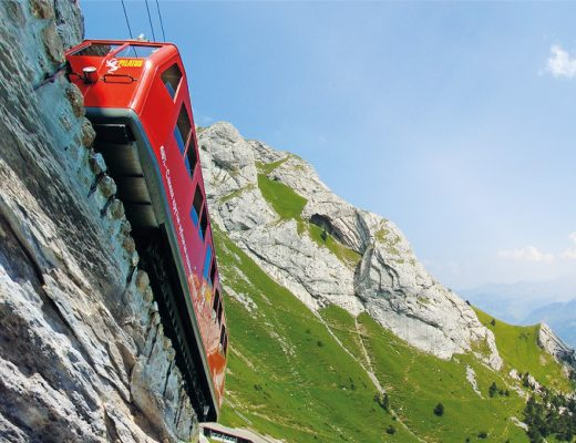 Cogwheel Train Tracks Steepest Railway Mount Pilatus Switzerland Bucket List Unique Experiences Things To Do Discover Alternative LocalBini BiniBlog Travel Lifestyle Food Mountains