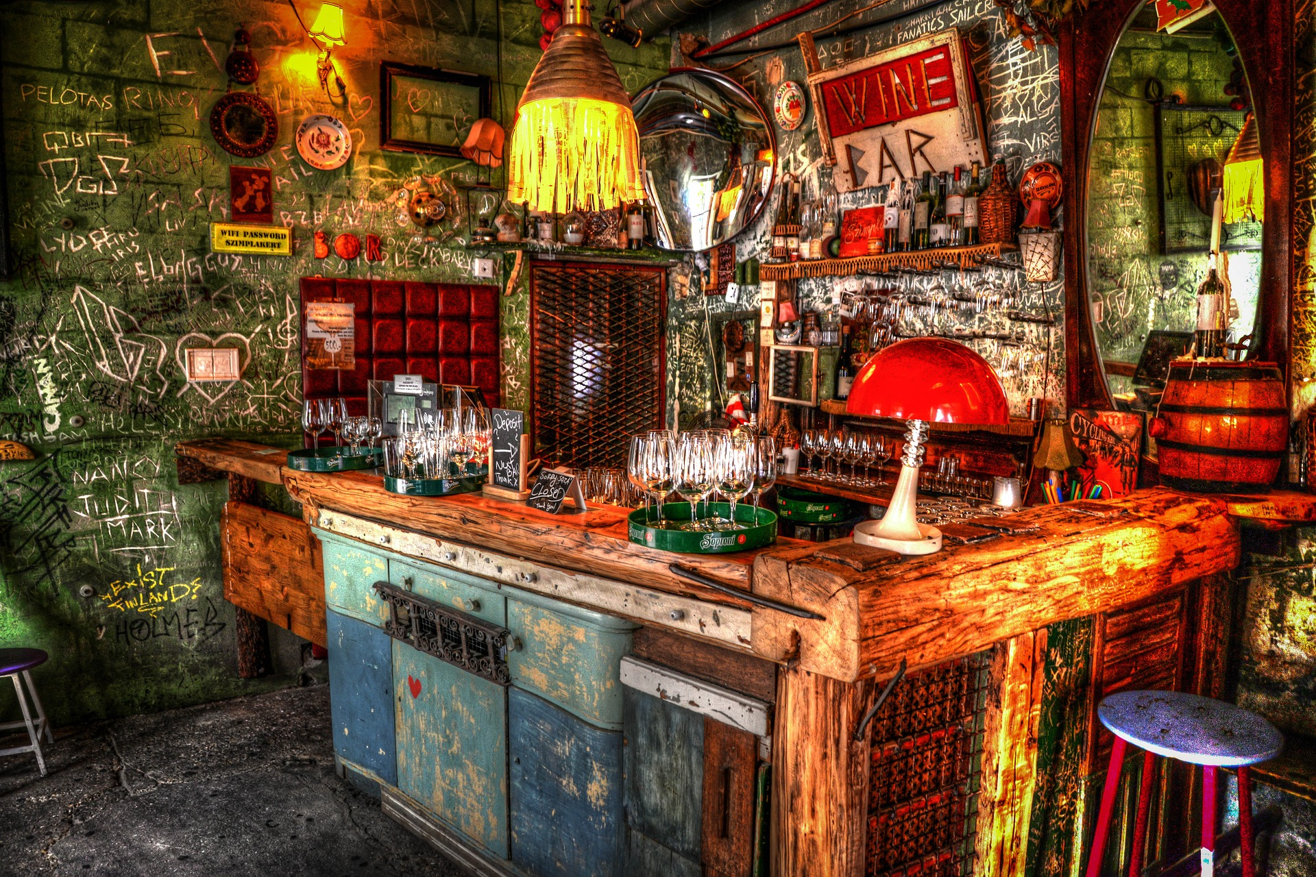 Ruin Bar Budapest Hungary Bath Spa Thermal Nightlife Scene Local Party Rave