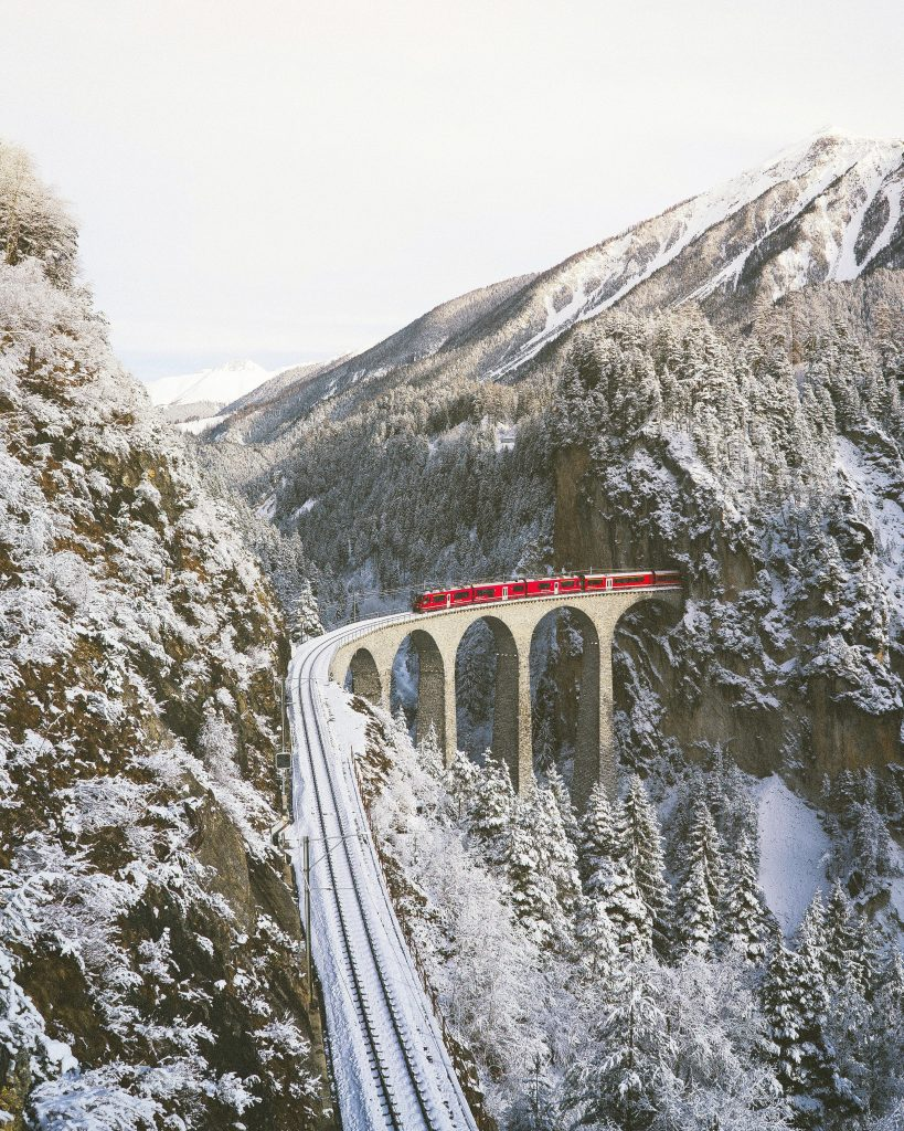 winter experience EuropeSwitzerland snow thermal bath snowshoe igloo train glacier express northern lights