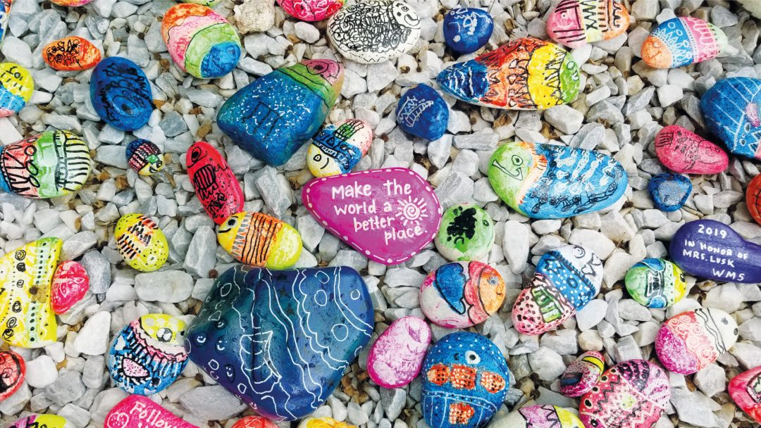 kindness, love, localbini, travel, help, isolation, quarantine, loneliness, health, exercise, experience workshop, skills, pebbles, beach, colourful, love, emotions,