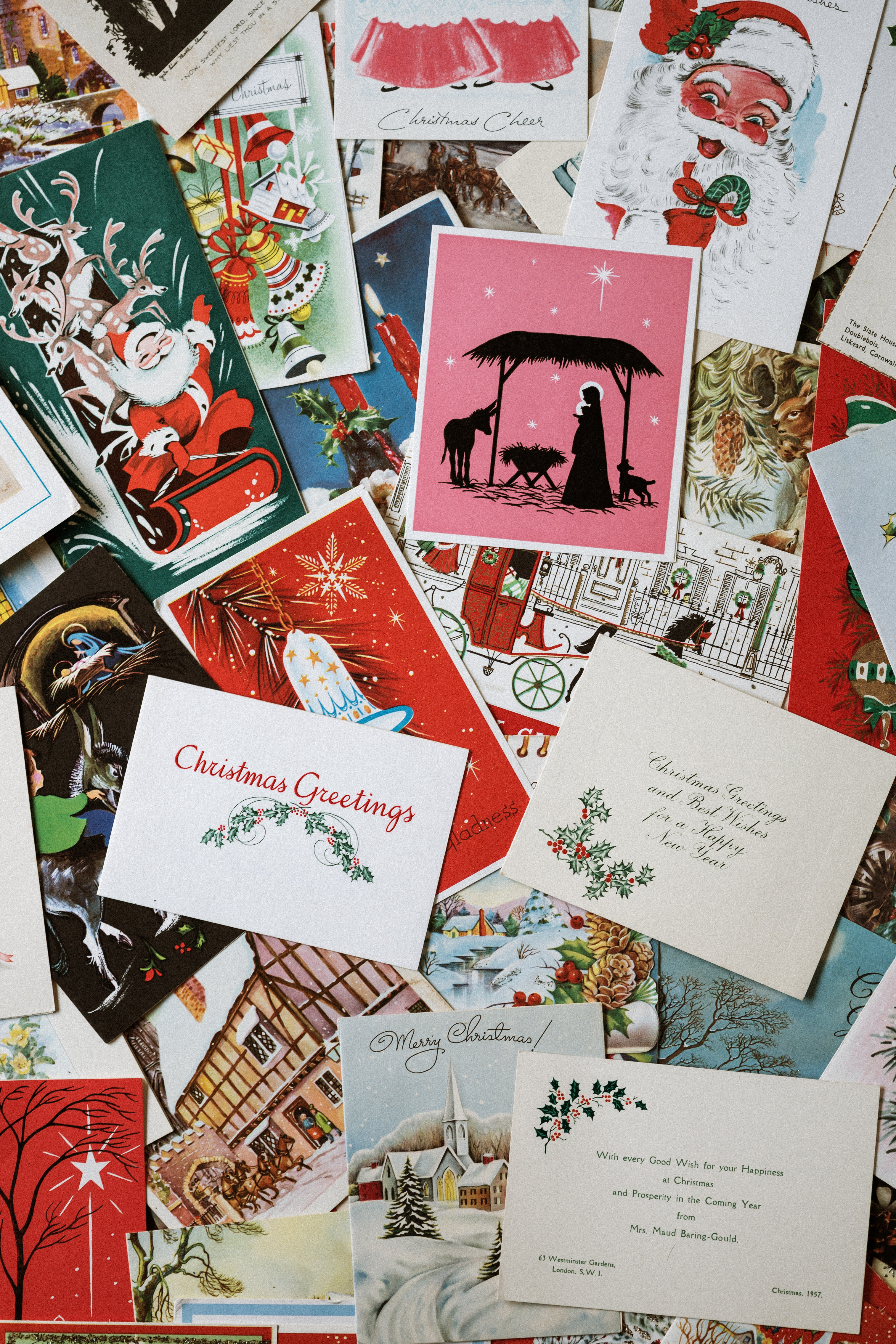 DIY christmas crafts holiday cards stack festive wishes