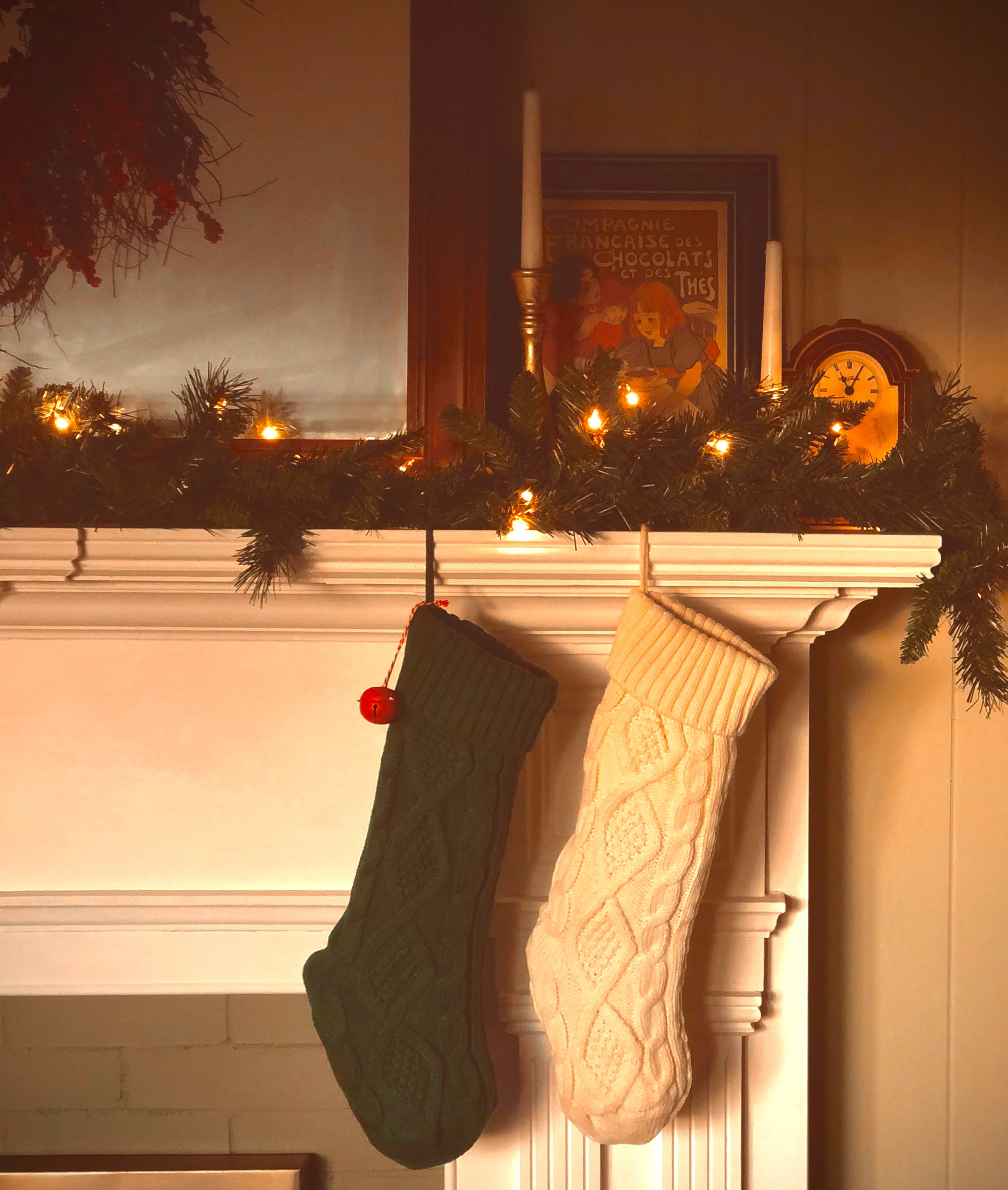 DIY Christmas Decorations Stocking Fireplace Cosy Home Christmas Crafts Knitting