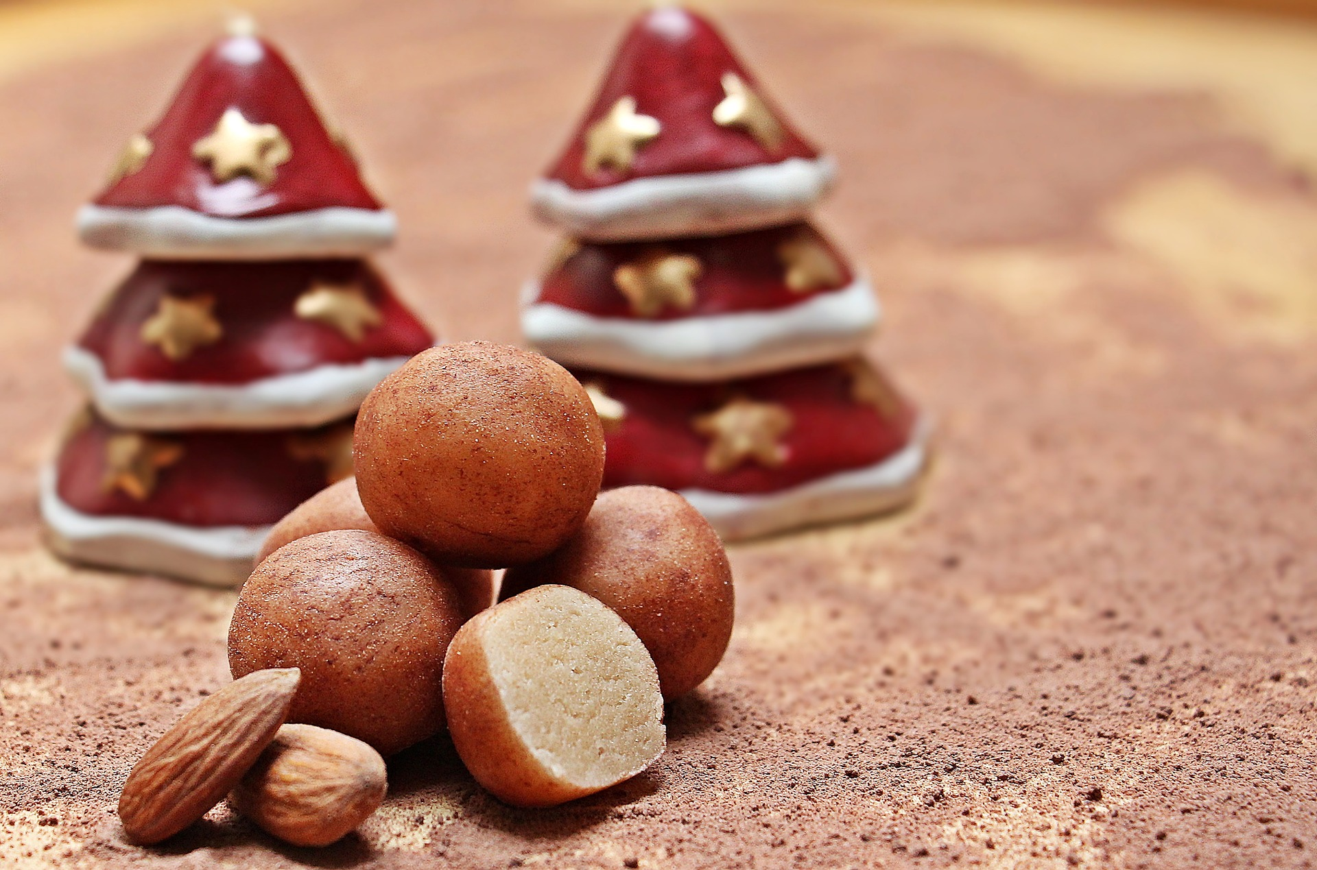 marzipan, marzipankartoffeln, potato, balls, sugar Germany, dessert, christmas, festive, baking, recipes