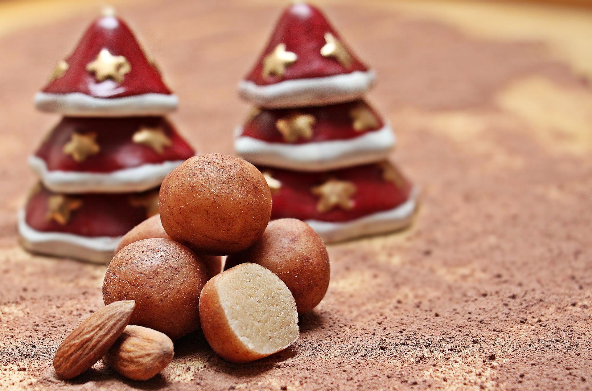 marzipan, marzipankartoffeln, potato, balls, sugar Germany, dessert, christmas, festive, baking, recipes