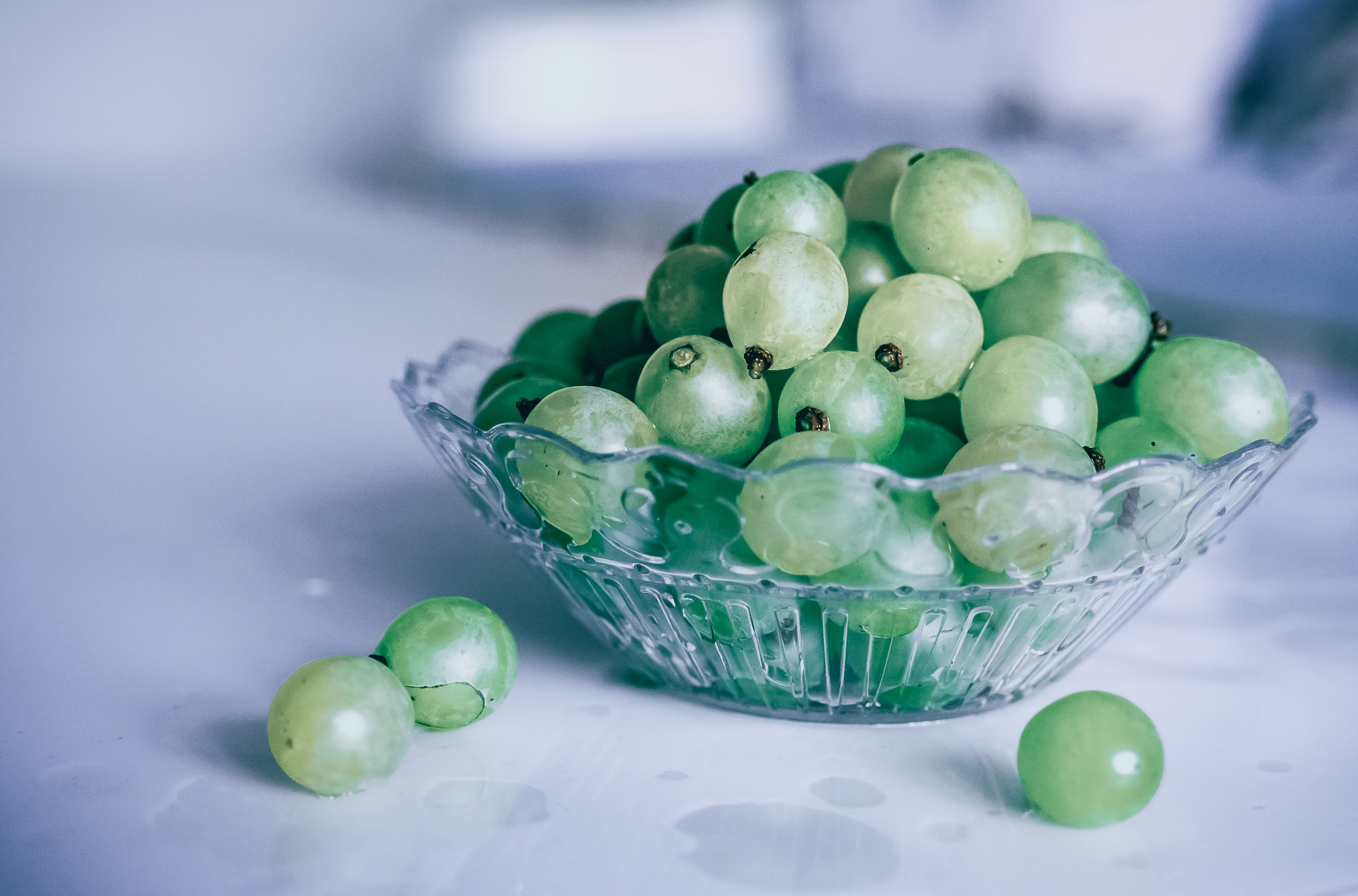 grapes, Spain, New Years, Festive, Tradition, Green, grapes bowl on marble table Europe food Christmas tradition