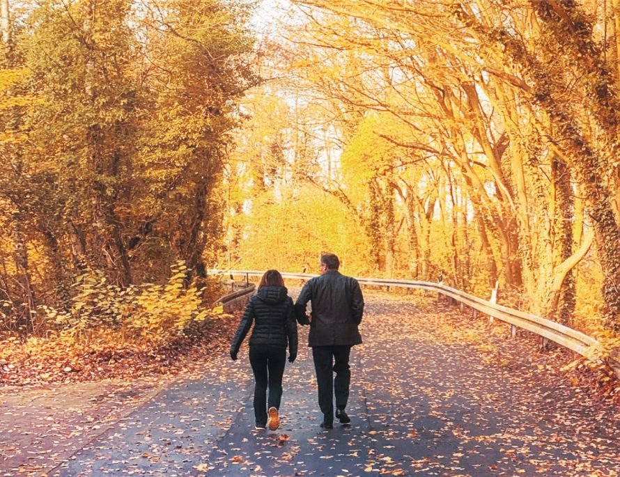Europe, Fall, Autumn, Romantic, Travel, Experience, Local, LocalBini, BiniBlog, travel tips, forest, yellow, couple